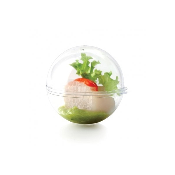 MINI SFERA FINGER FOOD TRASPARENTE DA 5 CL CON COPERCHIO