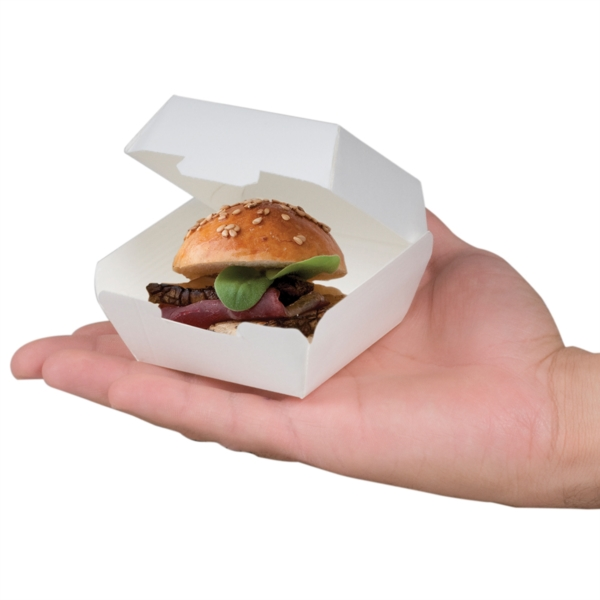 SCATOLA MINI BOX BURGER IN CARTONCINO BIANCO