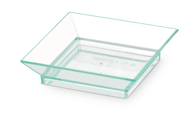 PIATTINO FINGER FOOD QUADRATO VERDE ACQUA 65x65 MM
