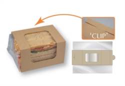 PORTA SANDWICH  BIODEGRADABILE IN CARTONCINO CON SISTEMA