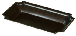 VASCHETTA SUSHI NERA BIODEGRADABILE PER TAKE AWAY CON COPERCHIO 180x110 MM