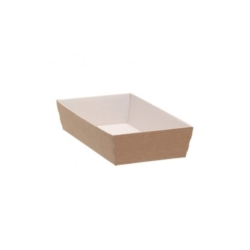 VASCHETTA SUSHI IN CARTONCINO PER TAKE AWAY CON COPERCHIO 130x65 MM
