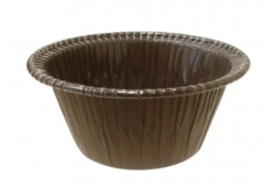 STAMPO COTTURA PER MUFFIN E CUPCAKES IN CARTONCINO MARRONE DIAM.95 MM