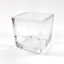 CUBO FINGER FOOD IN VETRO TRASPARENTE 50 x 50 MM