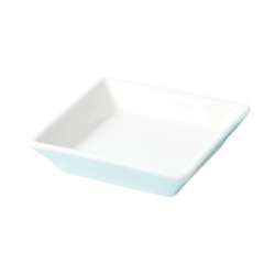 PIATTINO QUADRATO IN FINE BONE CHINA BIANCA 135x135MM