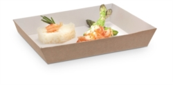 VASCHETTA SUSHI IN CARTONCINO PER TAKE AWAY CON COPERCHIO 180x130 MM
